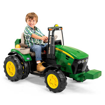 John Deere Electric Ride On Dual Force Tractor Toy