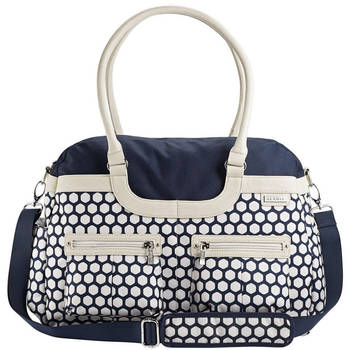 Satchel Nursery Bag Navy Hexagon