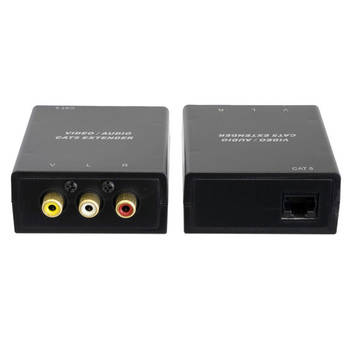 RCA Composite Video + Stereo Audio Cat5 Extender