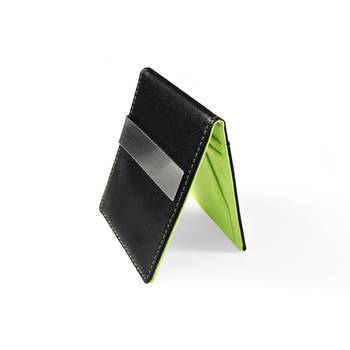 Green Wallet Money/Cash Clip Men Women Pu Leather Credit Card Holder Ultra Slim