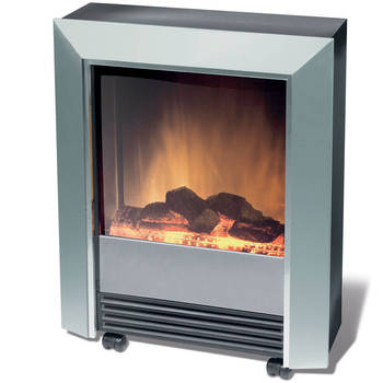 Dimplex Lee Silver Electric Fireplace Heater Heat/
