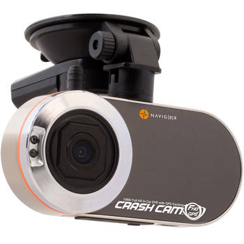 Navig8R Navcam-Fhdgps Car Crash Cam Camera W/ Gps Tracking Dvr - Wide Angle 120