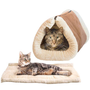 2 in 1 Tunnel and Mat Bed  for Pet/Cat
