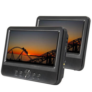 10inch Twin Screen Travel/Car/Portable DVD Player w/ Speakers/Car Adapter/Remote