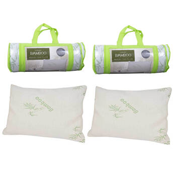 2Pack Luxury Bamboo Memory Foam Pillow