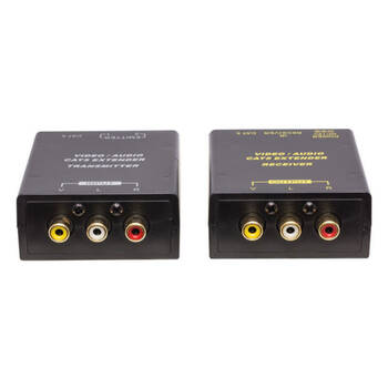 Composite Rca Video/Audio Cat5 Extender with IR Extender Kit