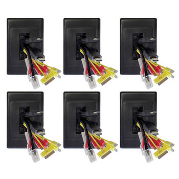 6x Wall Plate Wallplate W/Brush Outlet Cover For Cable Lead - Black