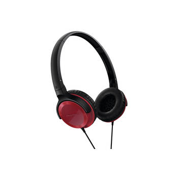 Pioneer Se-Mj502 Red Foldable Headphones Headband On Ear For Mp3 Cd Player