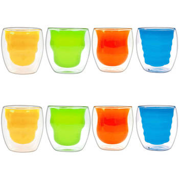 8Pcs Double Wall Tumblers