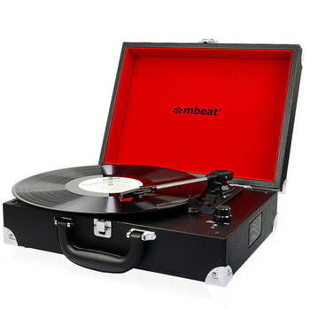 mbeat Retro Turntable Briefcase Black