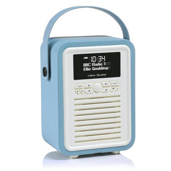 Blue View Quest Retro Mini DAB Digital Radio/USB/AUX/Bluetooth Portable Speaker