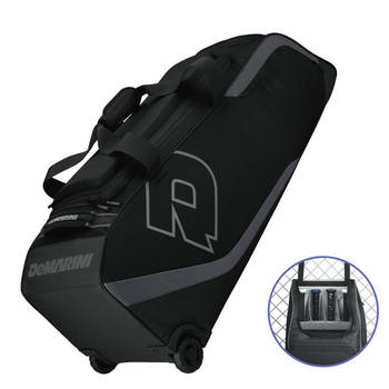 DeMarini ID2P Black Bag on Wheels for 4 Baseball Bats/Softball