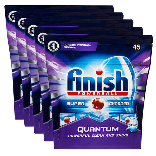 Finish 225 Tabs Quantum Powerball Super Charged Dishwashing/Cleaning Tablets