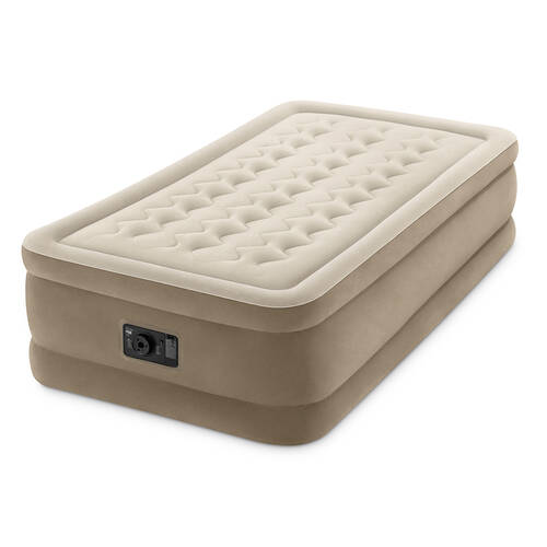 Intex Ultra Plush Airbed Inflatable Mattress Single Size