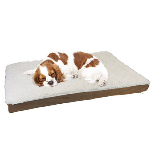 Paws & Claws 75x50cm Orthopedic Pet Bed - Brown Suede